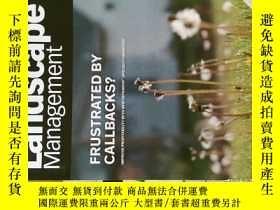 二手書博民逛書店LM罕見Landscape Management 景觀管理原版外文專業雜誌期刊 2013 10Y14610