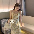 2021年夏天新款碎花洋裝連衣裙性感外穿吊帶裙溫柔風長裙辣妹顯瘦裙子 快速出貨
