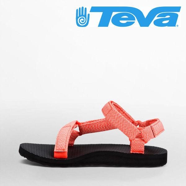 TEVA 女款 Original Universal 織帶涼鞋 - 花莎珊瑚 3987MCRL