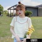 純棉夏季新款短袖t恤女學生韓版寬鬆上衣服甜美露臍短款體恤衫ins 街頭布衣