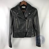 BRAND楓月 BALENCIAGA 巴黎世家 經典 黑色 羊皮 皮革外套 機車外套 皮夾克 #36