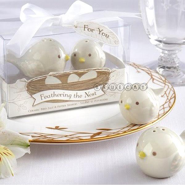 【BlueCat】婚禮小物 Feathering雙雙報喜喜鵲鳥造型調味罐禮盒 (1組2入)