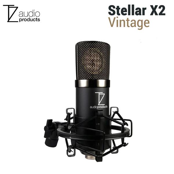 黑熊館 TechZone Stellar X2 Vintage 大振膜電容式麥克風套裝組 心型指向 直播 人聲 樂器