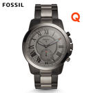 FOSSIL Q Grant黑灰色不鏽鋼...