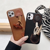 蘋果 iPhone12 Pro Max iPhone11 12Pro 12Mini 皮革腕繩 i11 i12 手機殼 全包邊 軟殼 保護殼