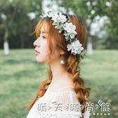 仿真櫻花韓式新娘花環頭飾森女系小清新度假髮飾婚紗配飾拍照道具 晴天時尚館