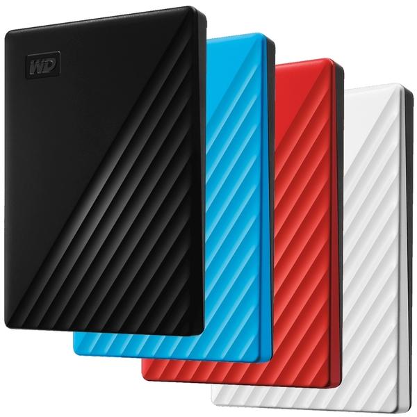 【免運費】WD 威騰 My Passport USB 3.2 Gen 1 2.5吋 4TB 行動硬碟 2019款 ( 黑 / 藍 / 紅 / 白)