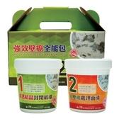 貓王 KINGCAT 強效壁癌全能包 (滲透結晶封閉底漆 1L+抗壁癌處理面漆 1L)