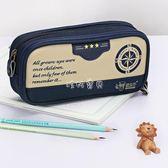筆袋 卡通筆袋文具袋學生男大容量雙層 復古筆袋鉛筆袋帆布筆袋 珍妮寶貝