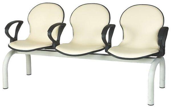 HP440-32 五人座扶手排椅(白皮)(雅姿)