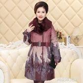 秋冬款外套中老年媽媽裝棉衣女士棉服冬裝中年毛領棉襖女裝 解憂雜貨鋪