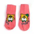 MIT 兩隻老虎品牌襪 中大童襪 粉紅 (M) 21~24.5CM