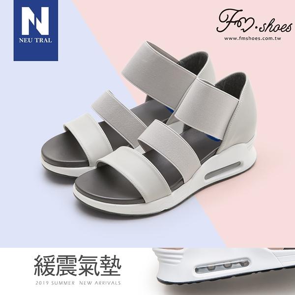 涼鞋.彈性織帶氣墊涼鞋(灰)-FM時尚美鞋-NeuTral.Sandals
