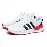 ADIDAS 慢跑鞋 U_PATH RUN 白黑紅 網布 襪套 情侶 男 (布魯克林) FX0104