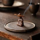 蚊香架 粗陶盤香爐家用香薰爐室內沉香檀香蚊香盤托架創意陶瓷香插香座臺