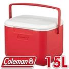 【Coleman 美國 15L EXCURSION 美利紅冰箱】 CM-27860/行動冰箱/冰桶/露營冰箱/保冷箱