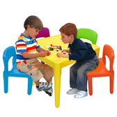 寶貝家繽紛桌椅組一桌四椅 生產喔BJ7901F