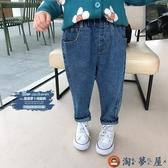 女童牛仔褲寬鬆兒童薄款長褲時尚褲子【淘夢屋】