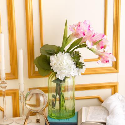 模擬花假花 套裝 花藝 客廳餐桌 裝飾花 花瓶花束 -bri020698