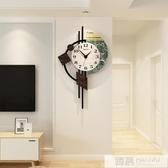 北歐鐘錶掛鐘客廳現代簡約時鐘個性創意時尚輕奢錶家用裝飾石英鐘  韓慕精品 YTL