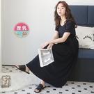 漂亮小媽咪 舒棉哺乳長洋裝 【B7700GU】 薄棉 孕婦連衣裙 短袖 長裙 孕婦裝 哺乳衣