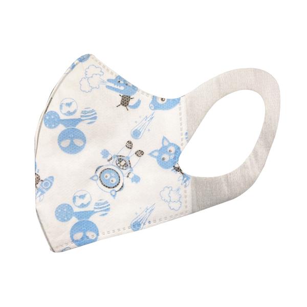 南六醫用幼幼/兒童立體口罩-3D太空豬(50入/盒)【合康連鎖藥局】