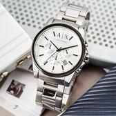 【人文行旅】A/X Armani Exchange   亞曼尼 AX2058 簡約線條感三眼腕錶