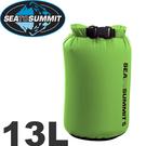 【Sea to Summit 澳洲 70D輕量防水收納袋13L《綠》】STSADS13GN/防水袋/朔溪包/游泳包