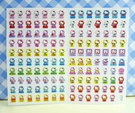 【震撼精品百貨】Hello Kitty 凱蒂貓~KITTY貼紙-心情貼紙-彩色(紫電視)