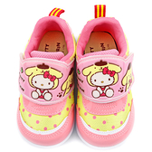 童鞋城堡-Kitty X 布丁狗聯名款 中童 小清新圓點輕量動鞋 KT7180 桃/黃 (共二色)