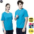 男短袖t恤 素色t 圓領 藍色上衣 現貨 湖藍