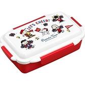 asdfkitty*日本製 史努比運動會樂扣型便當盒-可微波-可機洗-500ML-保鮮盒/水果盒/收納盒