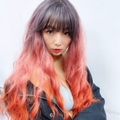 全頂假髮 珊瑚橘漸層 仿真大頭皮 高品質假髮 C8288 魔髮樂