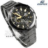 EDIFICE EFV-550DC-1A 公司貨 三眼計時碼錶設計 賽車錶 IP黑 男錶 EFV-550DC-1AVUDF CASIO卡西歐