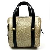 手提包-真皮經典蛇紋小巧優雅女斜背包3色73lp26【巴黎精品】