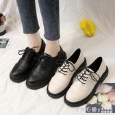 黑色小皮鞋女2020夏季新款薄款jk鞋子英倫風平底軟皮日系配裙單鞋 怦然心動
