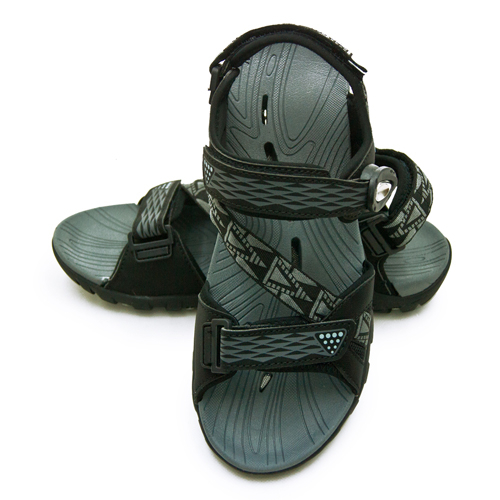 LIKA夢 LOTTO 專業多功能排水磁扣戶外運動涼鞋 涼夏瘋玩系列 黑灰 0190 男