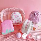 零錢包-韓國創意書包造型可愛草莓零錢包迷你硬幣包學生卡包耳機包鑰匙包-奇幻樂園