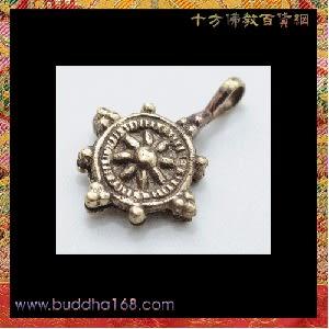 吉祥輪{銅}念珠夾1個 +平安加持小佛卡 【十方佛教文物】