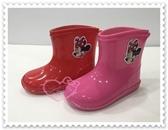 ♥小花花日本精品♥Hello Kitty迪士尼米妮兒童雨鞋兒童雨靴雨靴短靴米妮大臉圖粉色雨天必備(預購)