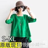 新款夏季棉麻女裝打底襯衫民族風文藝范大碼寬鬆休閒亞麻上衣 中秋特惠