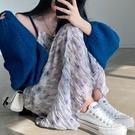 雪紡洋裝 韓系春夏印花寬鬆顯瘦長款吊帶連身裙 花漾小姐【預購】