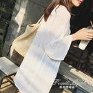 防曬罩衫NSSY韓版蕾絲雪紡開衫女中長款...