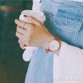 女士手錶 ins風手錶紅色女款時尚潮流女士皮帶學生韓版簡約ulzzang大氣女錶 生活故事居家館