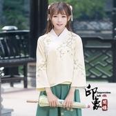 中國風古裝 古風文藝復古日常漢服 繡花對襟上衣‧復古‧衣閣