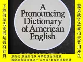 二手書博民逛書店A罕見Pronouncing Dictionary of Ame