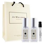 Jo Malone 鼠尾草與海鹽香水(9ml)X2+牡丹與胭紅麂絨針管香水 -贈提袋