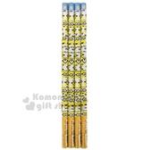 〔小禮堂〕小小兵 日製鉛筆組《4入.黃橘.滿版》B鉛筆.學童文具 4901770-58833