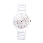 【Relax Time】晶鑽時標簡約時尚陶瓷腕錶-雪花白/RT-33-1/台灣總代理公司貨享一年保固