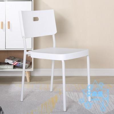 餐椅 北歐簡易塑料椅子家用餐廳椅經濟型宿舍學生小凳子簡約電腦靠背椅  艾森堡